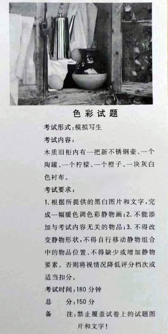 江西省2019年美术联考速写考题——美术高考
