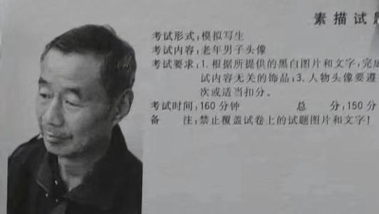 江西省2019年美术联考素描考题——美术高考