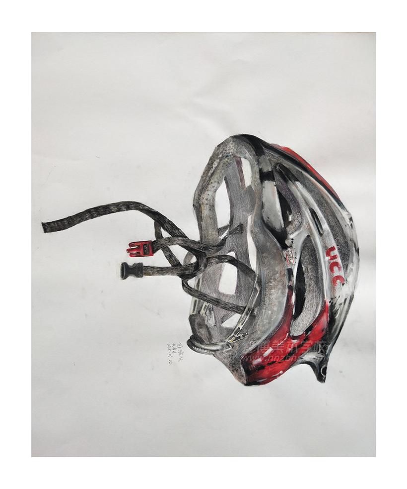 精微素描作品头盔