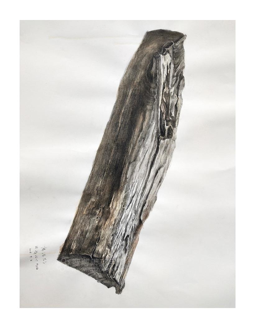 精微素描作品木头