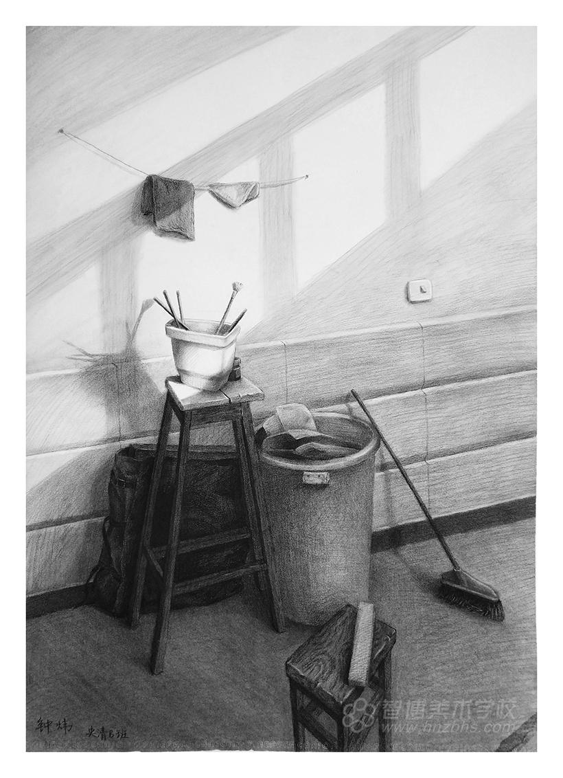 精微素描作品高椅子