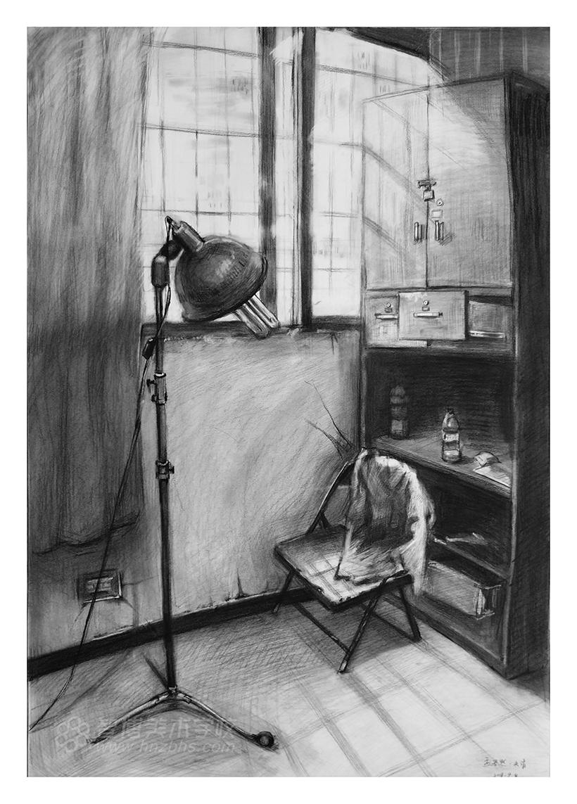精微素描作品椅子+台灯