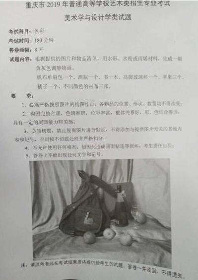 美术高考|重庆2019届美术联考考题赏析